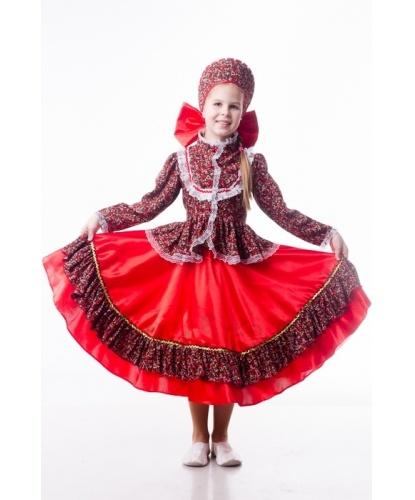 Детский костюм Кадриль кубанская: блузка, юбка, кокошник (Украина)