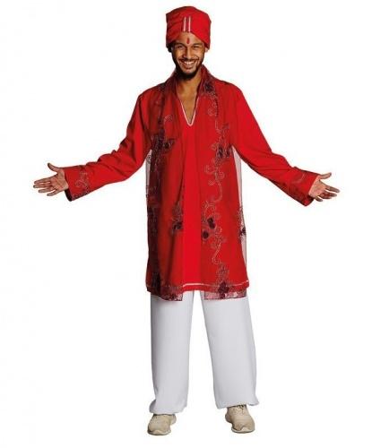 Мужской индийский костюм: рубашка, брюки, головной убор (Германия)