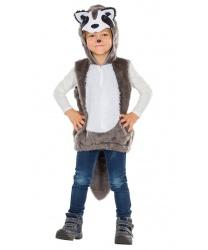 Детский костюм енота: кофта с капюшоном (Германия)
