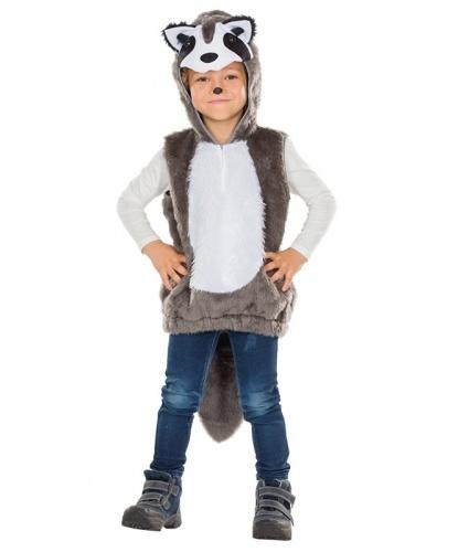Детский костюм енота: безрукавка с капюшоном (Германия)