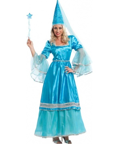 Взрослый костюм феи: головной убор, платье (Италия)