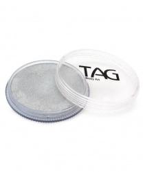Аквагрим TAG перламутровый серебряный 32 гр