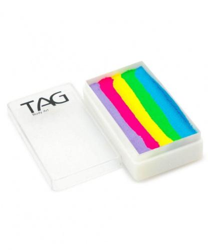 Аквагрим TAG сиреневый, розовый, желтый, зеленый, голубой, шайба 30 гр (Австралия)