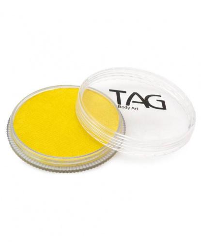 Аквагрим TAG перламутровый, желтый, шайба 32 гр. (Австралия)