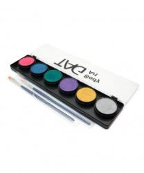 Аквагрим TAG набор из 6 перламутровых цветов