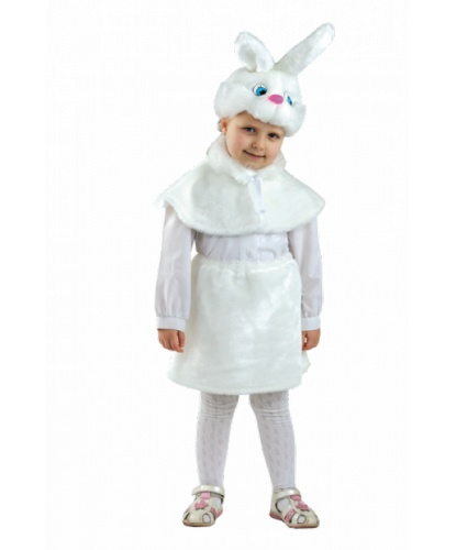 Детский костюм Зайчик: головной убор, накидка, юбка (Россия)