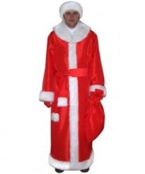 Костюм Деда Мороза: шуба, пояс, шапка и мешок (Россия)