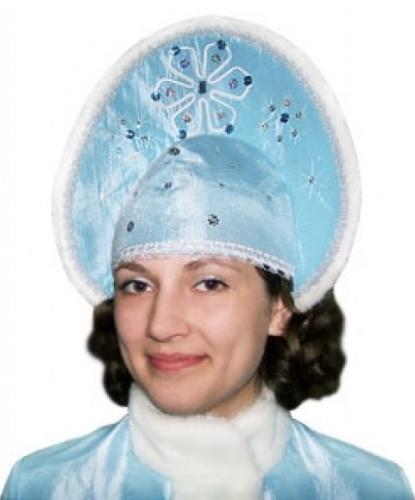 Кокошник Снегурочки голубой (Россия)
