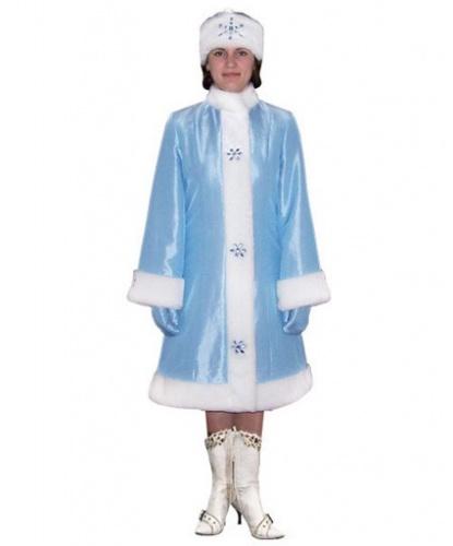 Новогодний наряд снегурочки: варежки, головной убор, шуба (Россия)