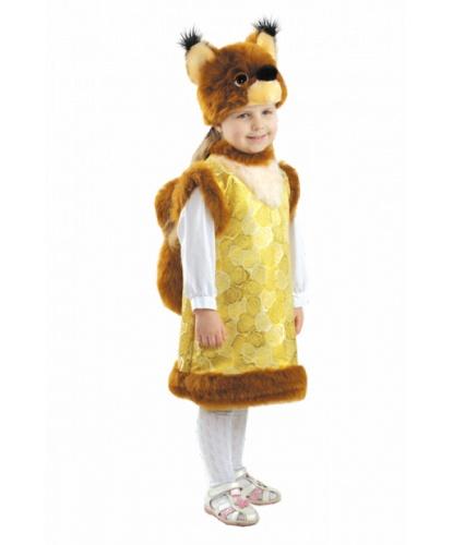 Детский костюм Белочка: головной убор, сарафан (Россия)