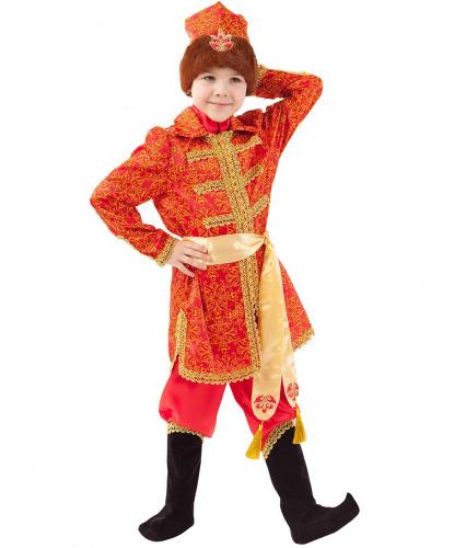 Детский костюм Царевич Алексей: кафтан, брюки, накладки на обувь, кушак, шапка (Россия)
