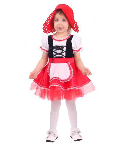Детский костюм Красная Шапочка: платье, головной убор (Россия)