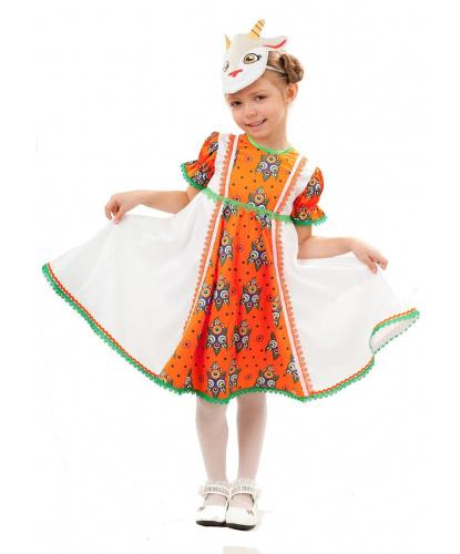 Детский костюм Коза Дереза: платье, повязка на голову (Россия)