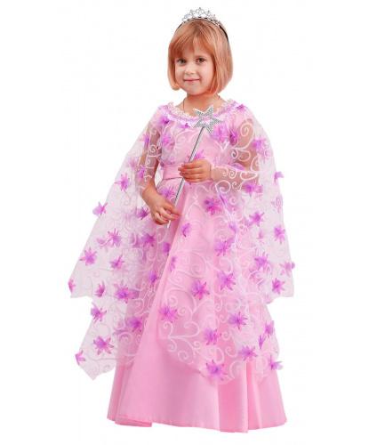 Детский костюм Фея: платье, диадема, палочка (Россия)