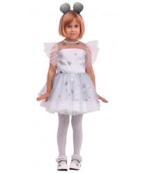 """Детский костюм """"Белая мышка"""""""