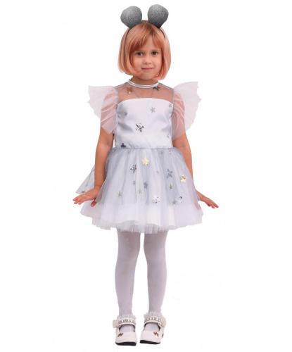 Детский костюм Белая мышка: платье, ободок (Россия)