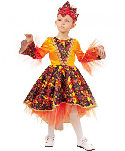 Детский костюм Жар-птица: платье, головной убор (Россия)