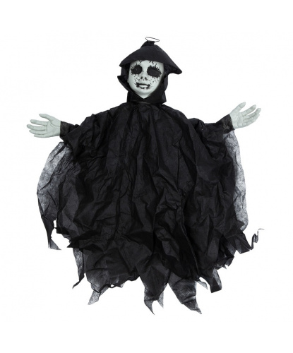 Декорация на Хэллоуин Черная кукла