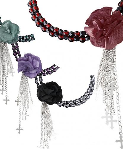 Ожерелье в готическом стиле (черное) (Италия)