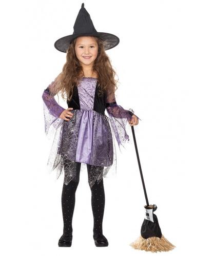 Детское черно-фиолетовое платье Паутинка: платье (Германия)