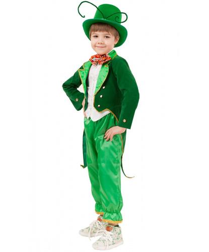 Карнавальный костюм Кузнечик: фрак, брюки, цилиндр и бабочка (Россия)