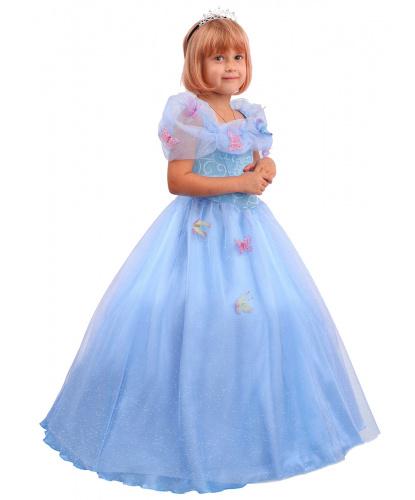 Детский костюм Сказочная Золушка: платье, диадема, подъюбник (Россия)