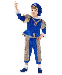 Детский костюм Принц: кофта, брюки, берет, накладки на обувь (Россия)