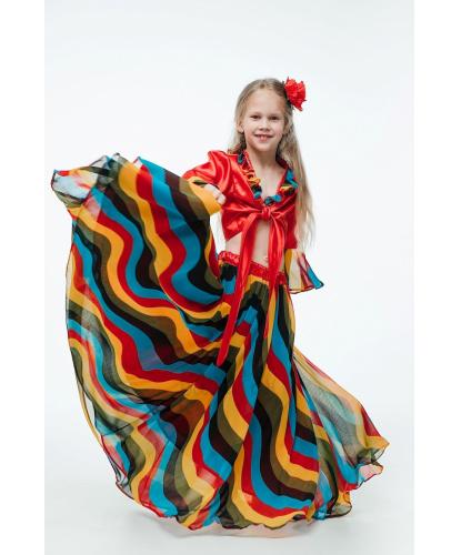 Детский костюм цыганочки: блузка, юбка, заколка (Украина)