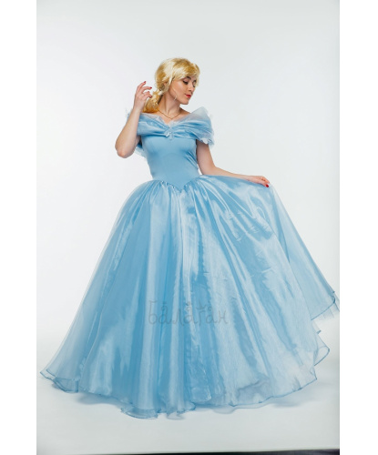 Взрослый костюм Золушка на балу: платье, юбка, кринолин (Украина)