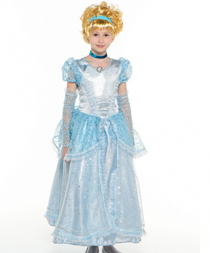 Принцесса Золушка: платье, перчатки, парик, ободок (Россия)