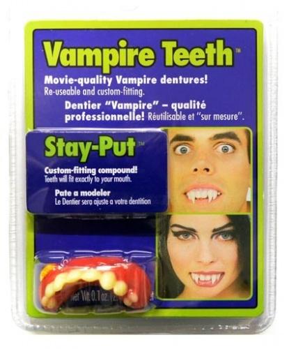Зубы вампира с клеем (Германия)
