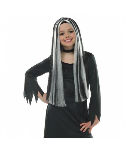 Детский парик Старая ведьма: белый, черный (Германия)