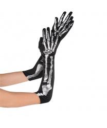 Длинные перчатки с костями