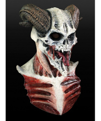 """Латексная маска """"Дьявол"""" с большими рогами"""