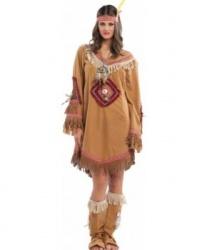 Костюм индианки: головной убор, накладки на обувь, платье (Италия)