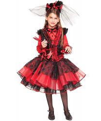 Дьяволетта: блузка, жилетка, юбка, ободок, вилы, стразы. (Италия)