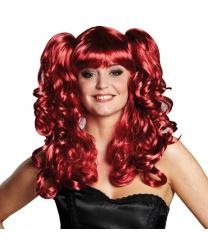 Женский парик со съемными хвостиками