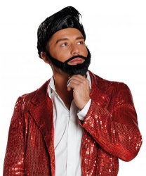 Парик, усы и борода брюнета
