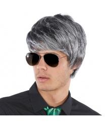 Серый мужской парик