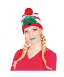 Новогодняя шапка с помпоном (Германия)