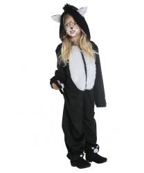 Детский костюм черного котенка