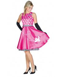 Розовое платье в стиле 50-х