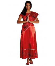 Красное платье-сари