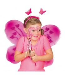 Набор ярко-розовой бабочки