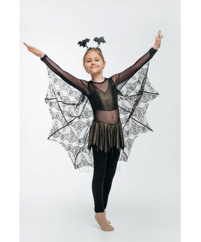 Костюм для девочки Летучая мышь: комбинезон с крыльями, головной убор (Украина)