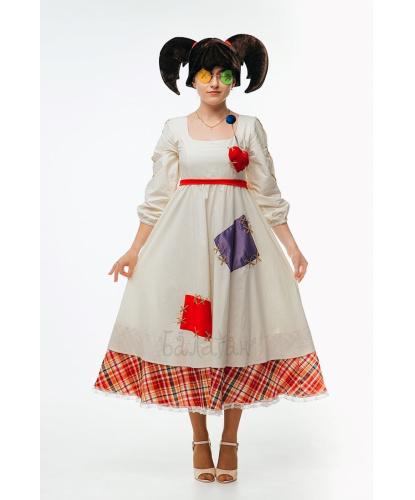 Взрослый костюм Кукла Вуду: платье, шапка, повязка на глаза (Украина)