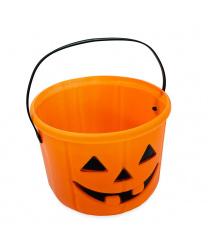 Ведерко-тыква на Хэллоуин
