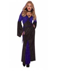 Платье чёрно-фиолетовое в готическом стиле