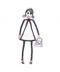Костюм нарисованной девушки