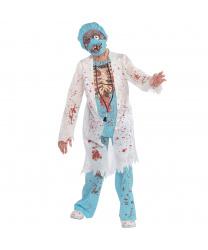 Подростковый костюм зомби-врача